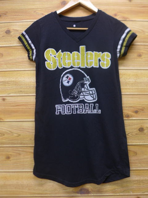 RUSHOUT: Old clothes Lady's T shirt NFL Pittsburgh Steelers long