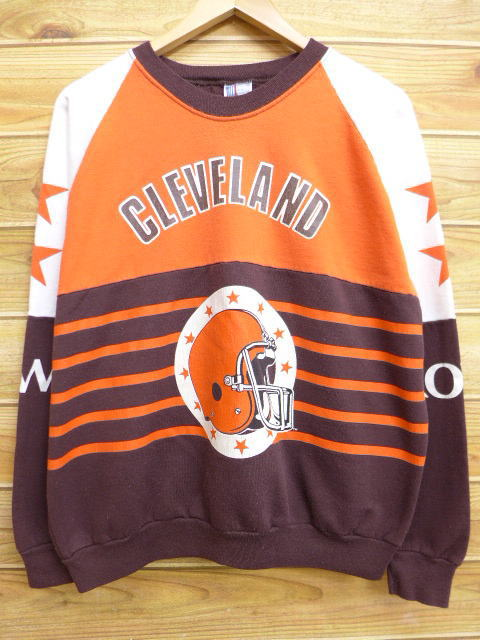 dc67641b Old clothes sweat shirt NFL Cleeveland Browns dark brown other brown  American football Super Bowl XL ...