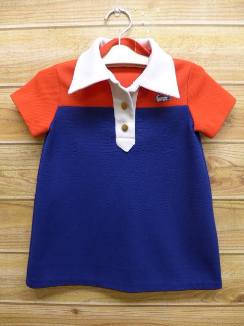3fa6545df Old clothes kids children s clothes polo shirt Lacoste LACOSTE logo dark  blue navy ...