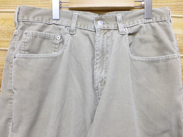 782811b5ac3 Old clothes corduroy underwear Levis Levis 569 loose large furrow beige  khaki W34 used men bottoms are long