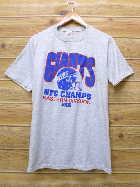 16d782f3 Old clothes vintage T-shirt NFL New York Giants gray marbled beef American  football Super Bowl medium size used men short sleeves
