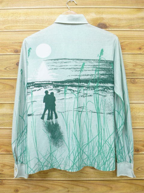 6696918a64f Old clothes long sleeves shirt Sears man and woman green green small size  used men tops ...