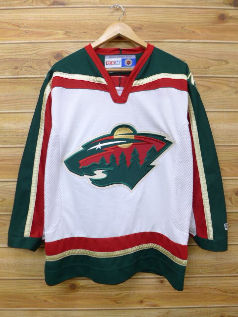 finest selection 10891 9e59f Old clothes long sleeves football T-shirt NHL Minnesota Wild white other  white ice hockey large size used men