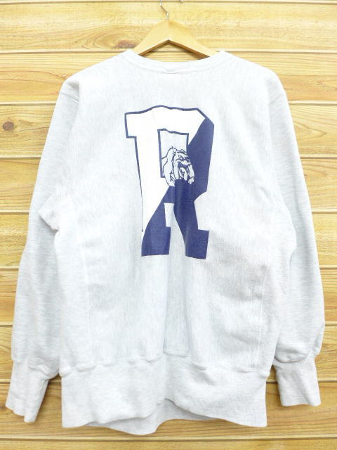 08cf028259bb Old clothes Champion champion reverse Wiebe bulldog gray marbled beef large  size used men long sleeves ...