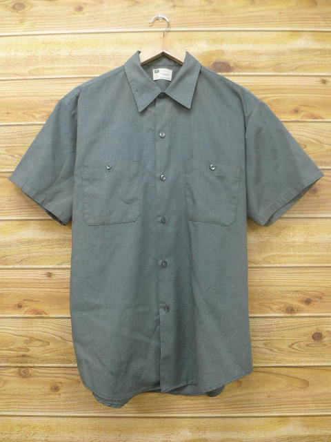 6808a76e7ed Old clothes short sleeves vintage work shirt Sears green green large size  used men tops ...