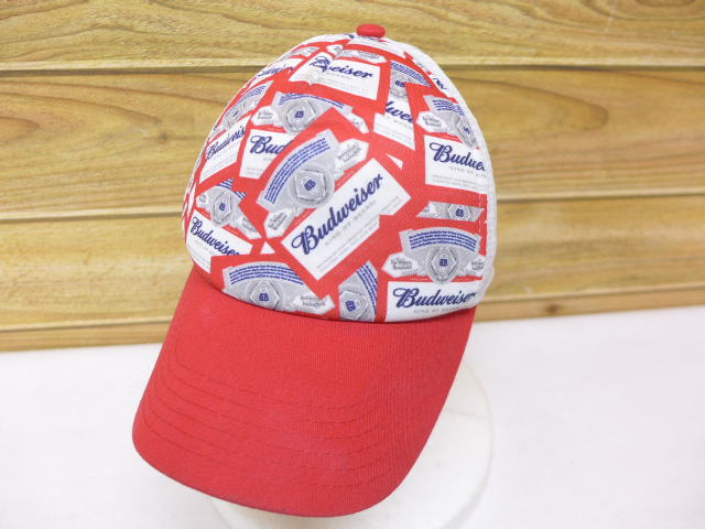 d1bf391d8cf5d RUSHOUT  Used mesh cap Budweiser red red