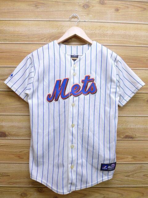 promo code a483a 7f803 Old clothes short sleeves baseball shirt MLB New York Mets Johan Santana  white white small size used men tops