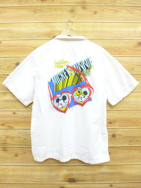 c9843c0a97d RUSHOUT: Old clothes short sleeves shirt Disney DISNEY Mickey MICKEY ...