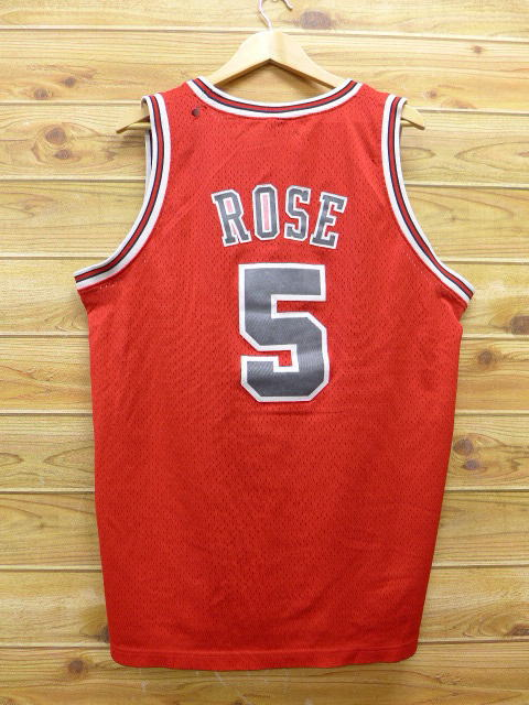 on sale f9751 8e73e Old clothes tank top Nike NIKE NBA Chicago Bulls Derrick Rose big size red  red XL size used men
