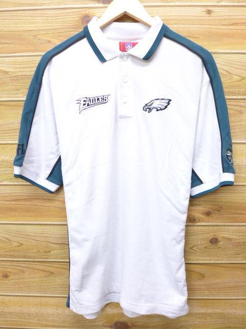 RUSHOUT  Old clothes polo shirt NFL Philadelphia Eagles white white ... 15ae4753e