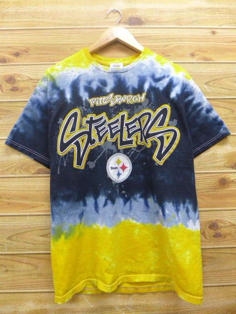 RUSHOUT  Old clothes T-shirt NFL Pittsburgh Steelers yellow other ... c9f591482