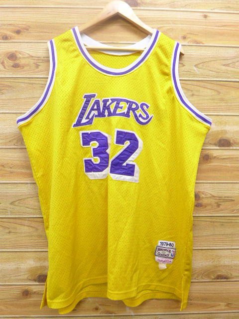 63d3ae99a2d RUSHOUT  Old clothes tank top NBA Los Angeles Lakers Earvin Johnson ...