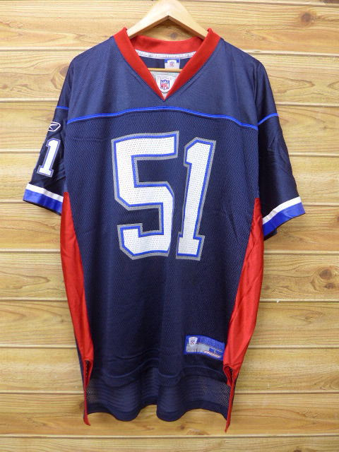 eb3a68cf854 RUSHOUT  Old clothes football T-shirt Reebok REEBOK NFL 51 big size ...