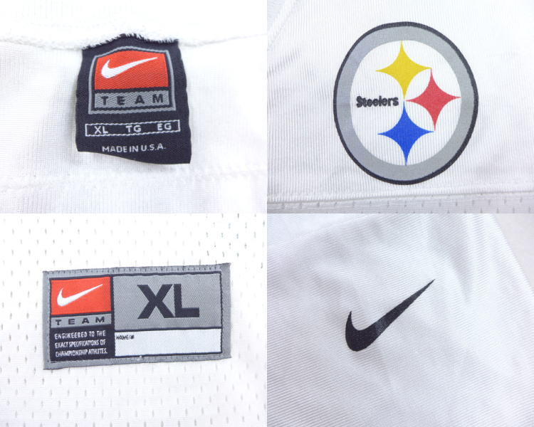 Old clothes football T-shirt Nike NIKE NFL Pittsburgh Steelers Kordell  Stewart big size white white American football Super Bowl XL size used men 3ba75f4e3