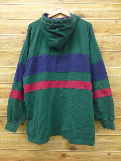 fd24bf7ed01 RUSHOUT: Old clothes long sleeves rugby shirt parka Eddie Bauer big ...