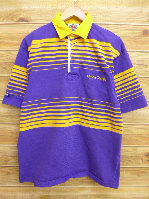 Old Clothes Short Sleeves Rugby Shirt Barbarian Purple Xl Size Used Men Tops