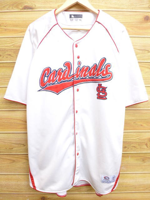 new product da0d8 0f177 Old clothes short sleeves baseball shirt MLB St. Louis Cardinals big size  white white XL size used men tops