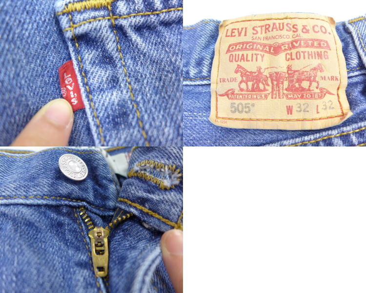 f540360c 古着屋RUSHOUT ビンテージメンズレディース古着通販 [product number] lpa18042072 [brand name] Old  clothes short pants Levis Levis 505 denim