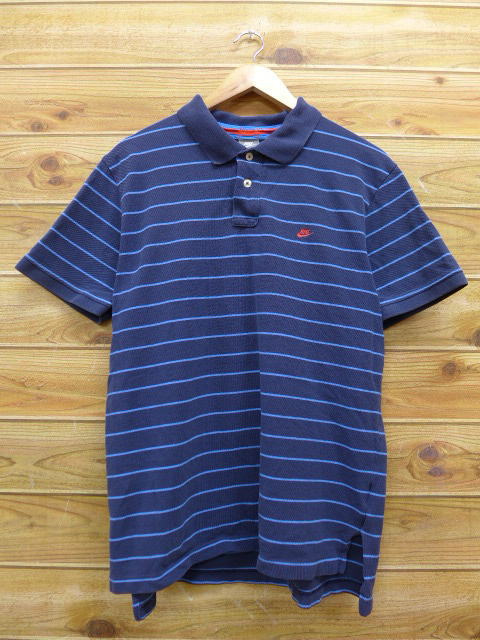 RUSHOUT  Old clothes polo shirt Nike NIKE dark blue navy horizontal ... 6f5fef335