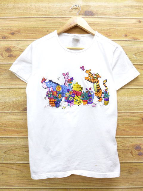8781c4c57 Old clothes Lady's T-shirt Disney DISNEY Winnie-the-Pooh Pooh Piglet Tigger  ...