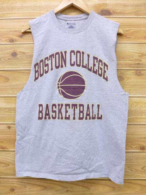 29102cb33f1cf RUSHOUT  Old clothes tank top champion Champion Boston gray marbled ...