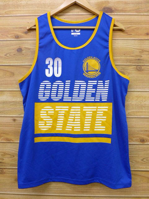 brand new 4efb5 712c1 Old clothes tank top NBA Golden State Warriors blue blue basketball large  size used men