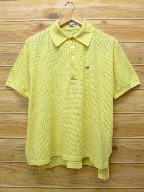 da10fb75dcd RUSHOUT  Old clothes polo shirt Lacoste LACOSTE logo yellow yellow ...