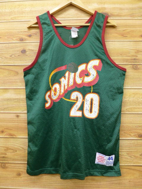 88c215e603ee RUSHOUT  Old clothes tank top NBA Seattle SuperSonics Gary Payton ...