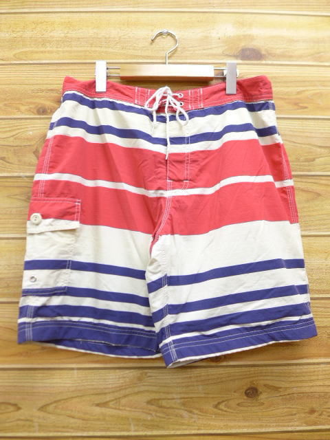6a2a0d5f27 Old clothes swimsuit J. Crew J.CREW red red horizontal stripe swimsuit swimming  shorts ...