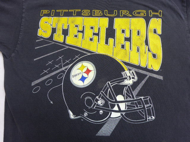 1560ef737b1 RUSHOUT  Old clothes vintage T-shirt NFL Pittsburgh Steelers black ...