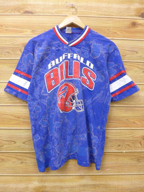 online store 3b591 dc166 Old clothes football T-shirt NFL Buffalo Bills dark blue system navy  tie-dyeing American football Super Bowl large size used men
