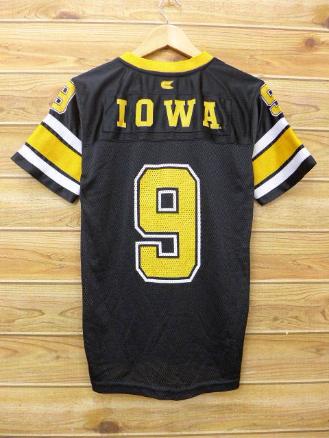 e06808a6 RUSHOUT: Old clothes football T-shirt Iowa black black medium size ...