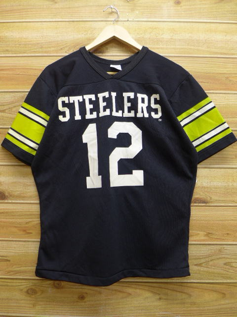 new arrival b6505 4ddac Old clothes vintage football T-shirt NFL Pittsburgh Steelers black black  American football Super Bowl XL size used men