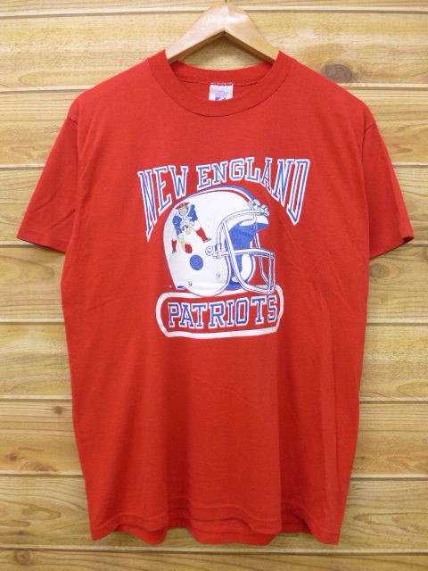 RUSHOUT  Old clothes vintage T-shirt NFL New England Patriots red ... fe92d4991