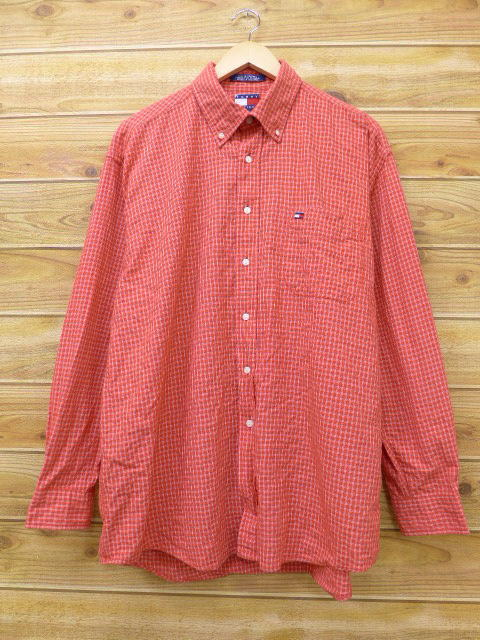 Tommy Hilfiger Mens Xl Striped Red Polo Shirt Vtg Carefully Selected Materials Polos Shirts