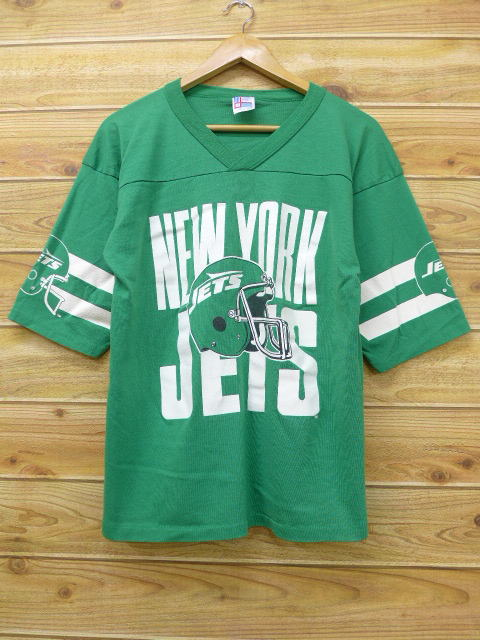 7e9fa5dc RUSHOUT: Old clothes football T-shirt NFL New York Jets green green ...