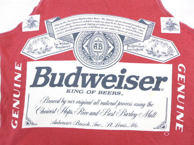 45ff4cfe296177 古着屋RUSHOUT ビンテージメンズレディース古着通販  product number  tstp18052365  brand name  XL  ☆ old clothes vintage tank top 90s Budweiser beer red ...
