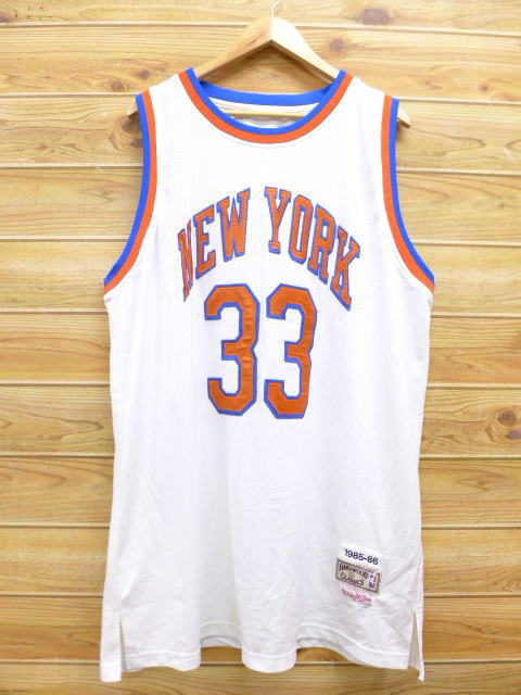 ddd2dc9d7ad87 RUSHOUT  Old clothes tank top NBA New York Knicks 33 Patrick Ewing ...