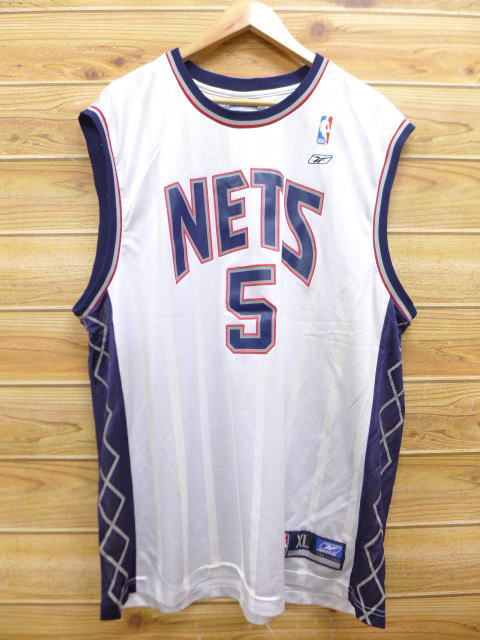 48a7b40988a4 System uniform basketball XL size used goods men lightly gray the size that  old clothes no sleeve T-shirt Reebok REEBOK NBA Brooklyn Nets 5 Jason Kidd  has a ...