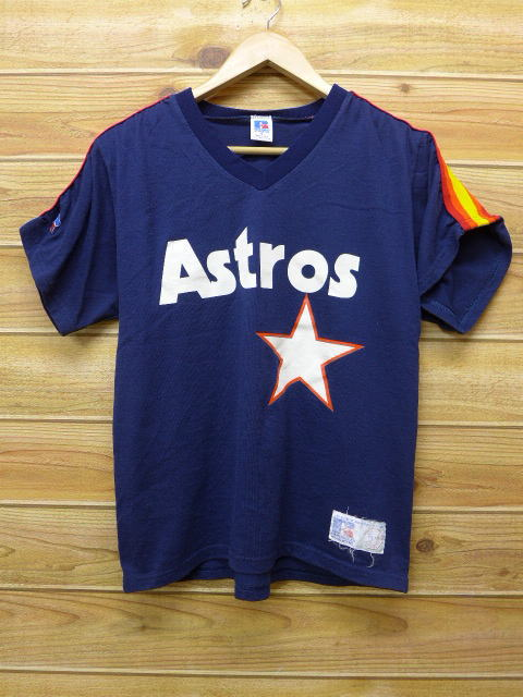 buy popular d894a 35422 Old clothes vintage T-shirt MLB Houston Astros dark blue navy Major League  baseball baseball medium size used men