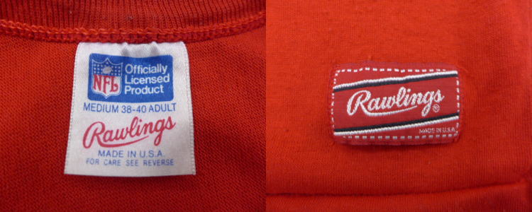 Old clothes football T-shirt NFL ヤンザスシティチーフス 86 red red American football  Super Bowl medium size used men b4581bf94