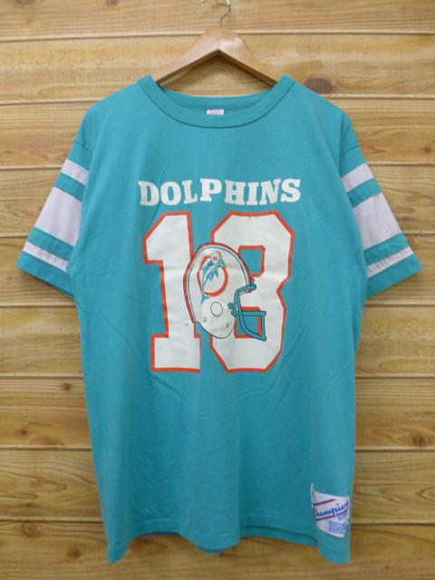 RUSHOUT  Old clothes vintage football T-shirt champion NFL Miami ... ecccf171a