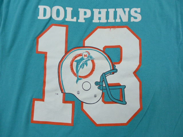 sale retailer 6272f 94bfe Old clothes vintage football T-shirt champion NFL Miami Dolphins 13 bluish  green American football Super Bowl large size used men