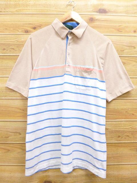 20b90c3997 Old clothes polo shirt Jantzen white other white horizontal stripe XL size  used men short sleeves ...
