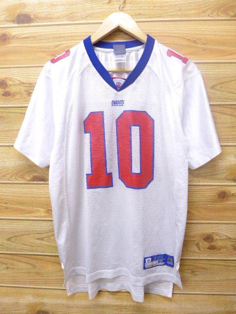 the best attitude 12c70 06162 Old clothes football T-shirt Reebok REEBOK NFL New York Giants Ely Manning  10 white white American football Super Bowl large size used men