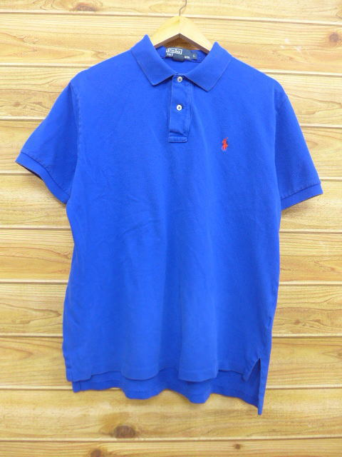 Rushout Old Clothes Polo Shirt Ralph Lauren Ralph Lauren Logo Blue
