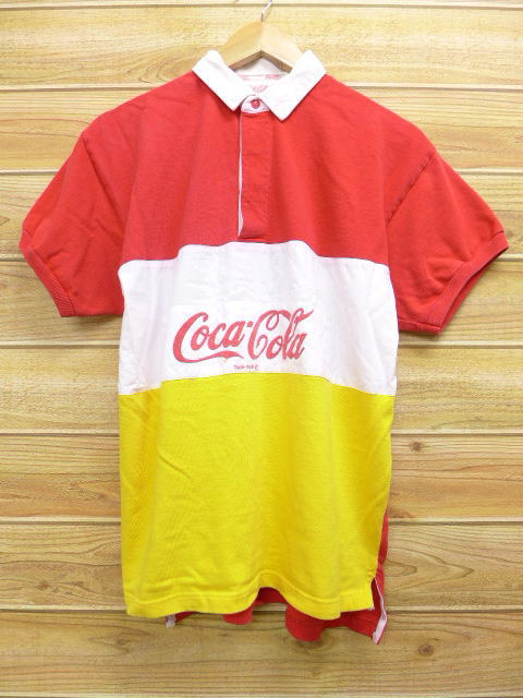 83ae2f6ea2cf7 Rushout Old Clothes Short Sleeves Rugby Shirt Coca Cola Red