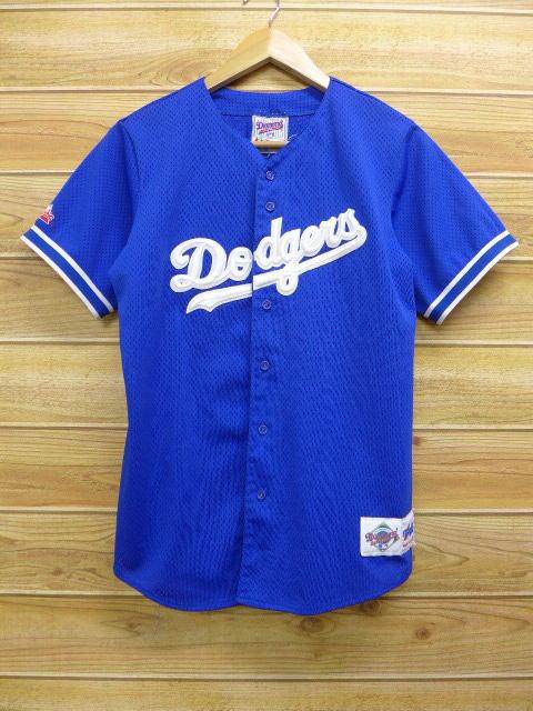 newest 9f356 bbca2 Old clothes short sleeves baseball shirt MLB Los Angeles Dodgers blue blue  uniform medium size used men tops