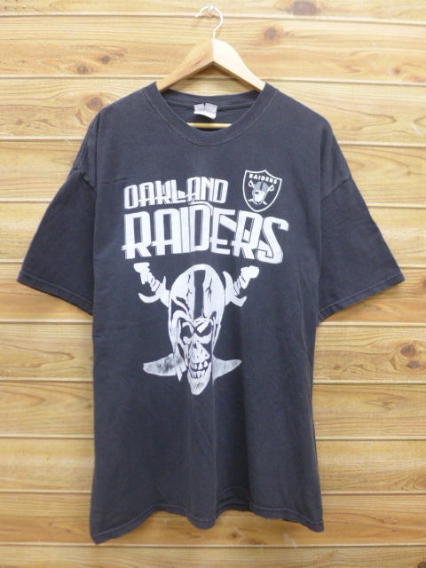 Wholesale RUSHOUT: Old clothes T shirt NFL Oakland Raiders big size black  supplier