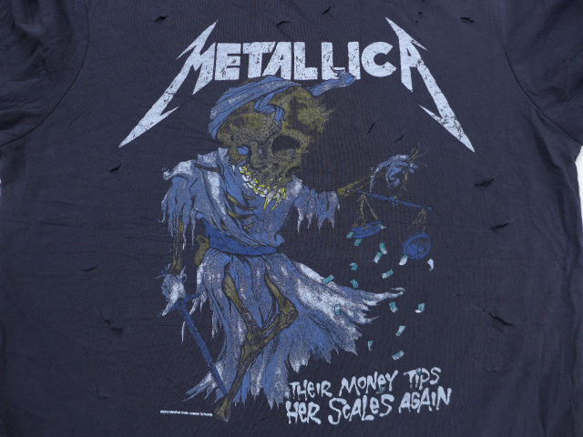 76f4cb0b 古着屋RUSHOUT ビンテージメンズレディース古着通販 [product number] tsrk18064284 [brand name] L ☆ old  clothes rock band T-shirt Metallica pass head black